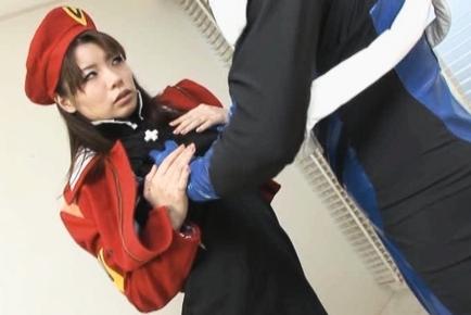Rei Mizuna Japanese doll in cosplay