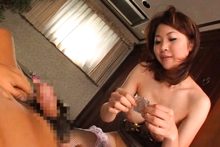 Anna Kousaka Asian doll in sexy lingerie