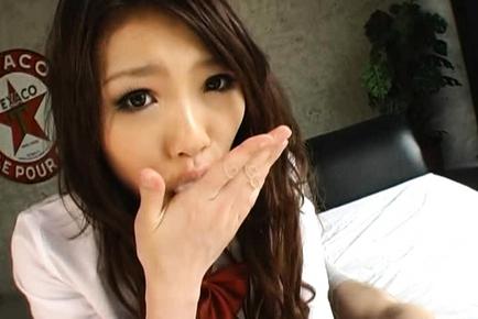 Sweet Japanese gal in cosplay sex games