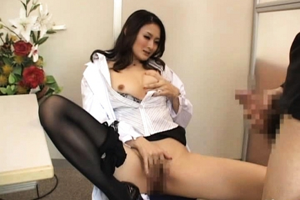 Sweet Japanese girl in cosplay sex game
