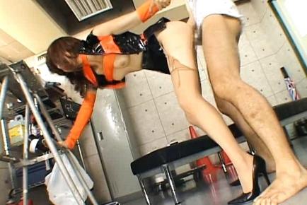 Akiho Yoshizawa Beautiful Asian doll has a sexy costume for fucking