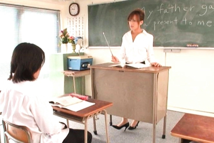 Rio Fujisaki Lovely Japanese teacher