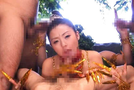 Tsubomi Hot Japanese babe in cosplay sex action