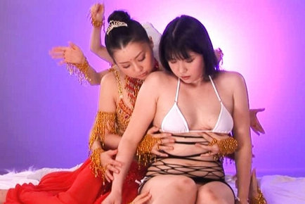 Tsubomi Lovely Asian chick is hot in costume