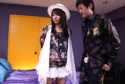 Rui Saotome Asian high school girl has no panties on