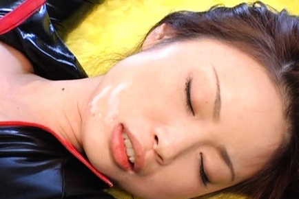Risa Kasumi Asian teen in cosplay sex wears latex
