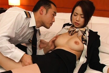 Risa Kasumi Japanese model in cosplay sex as a stewardess