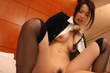 Risa Kasumi Japanese model in cosplay sex as a stewardess
