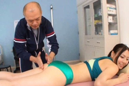Sporty Maho Ichikawa Gets A Massage And A Blast Of Cum