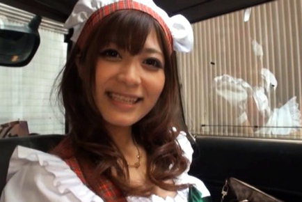 Teen Haruki Satoh Sucks Dick In A Car While In Costume