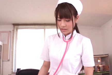 Skinny nurse Ai Nikaidou pleases horny male