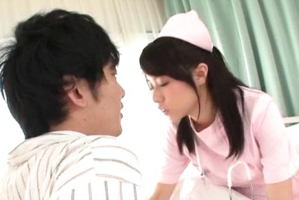Hot teen Ran Usagi in nurse uniform gets a cumshot after hardcore