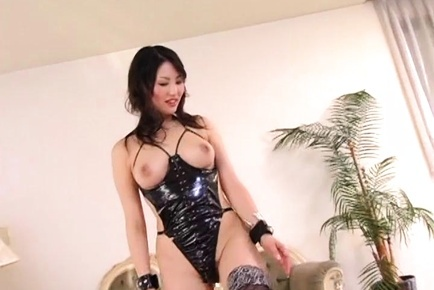 Busty Japanese AV model makes magic on a big cock